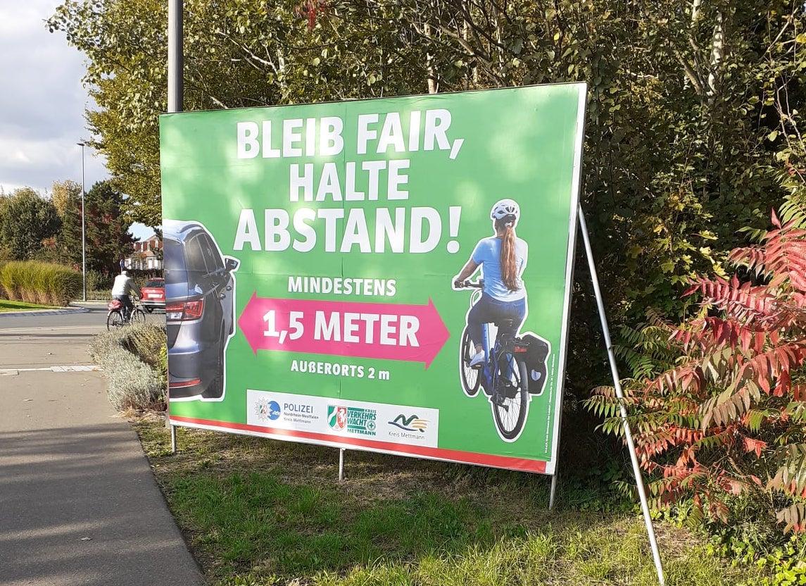 """Kampagne """"Abstand halten im Kreis Mettmann"""""""